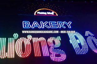mặt dựng alu, chữ nổi, đèn led, làm bảng hiệu alu, làm bảng hiệu chữ nổi, chữ nổi mica gắn đèn led, đèn led trang trí bảng hiệu, quảng cáo đèn led