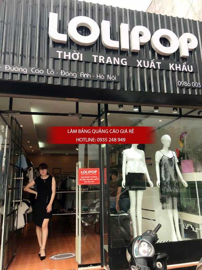 bang hieu alu 4 - Làm bảng hiệu thời trang - Mẫu bảng hiệu thời trang đẹp