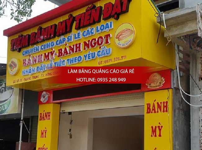 bang hieu chu noi mica tiem banh my 1 - Bảng hiệu alu gắn chữ nổi mica tiệm bánh mỳ