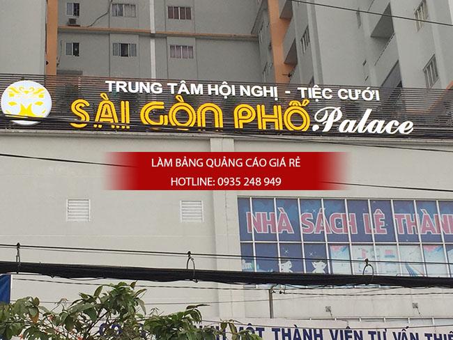 lam bang hieu chu noi mica 1 - Thi công bảng hiệu chữ nổi mica trung tâm tiệc cưới