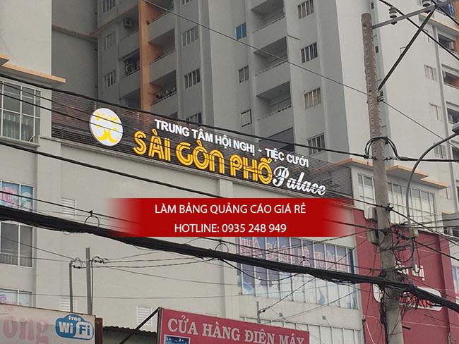 lam bang hieu chu noi mica 2 - Thi công bảng hiệu chữ nổi mica trung tâm tiệc cưới