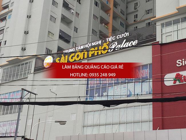 lam bang hieu chu noi mica 3 - Thi công bảng hiệu chữ nổi mica trung tâm tiệc cưới