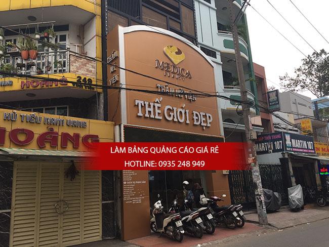 thi cong bang hieu spa 4 - Thi công bảng hiệu alu Spa đẹp