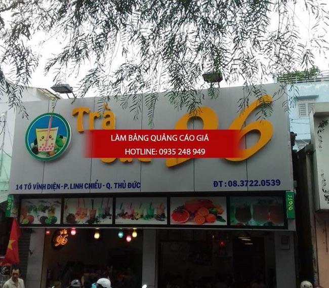 bang hieu tra sua dep 2 - Làm bảng hiệu trà sữa quận Bình Thạnh Tp HCM