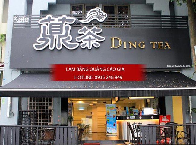bang hieu tra sua dep 6 - Làm bảng hiệu quảng cáo quận Bình Tân TPHCM