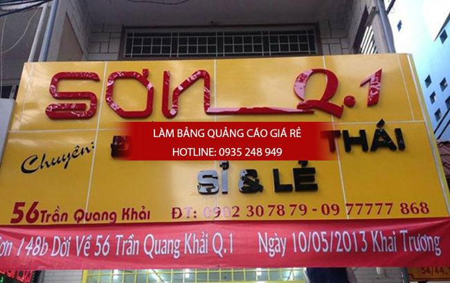 lam bang hieu quan 1 6 - Làm bảng hiệu quảng cáo giá rẻ quận 1 Tphcm
