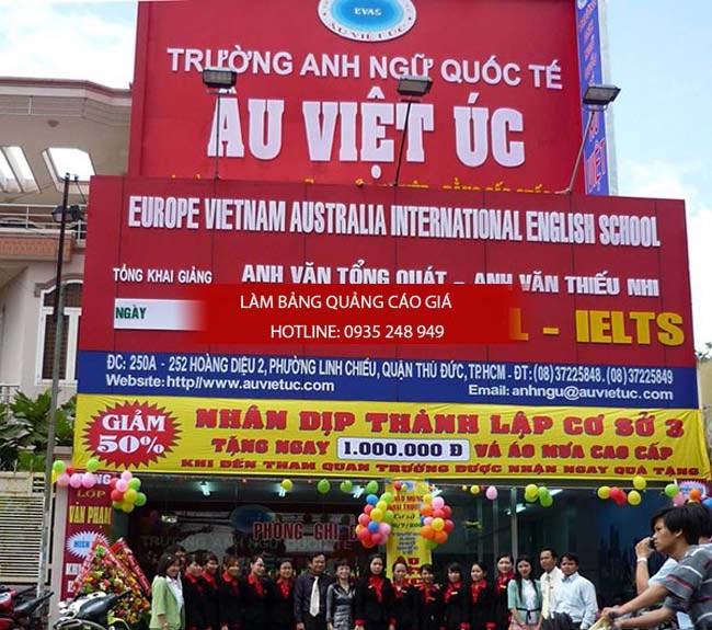 lam bang hieu truong hoc 9 - Làm bảng hiệu trung tâm anh ngữ quận Tân Phú