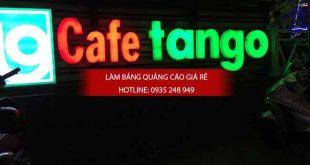 làm chữ nổi mica gắn đèn led quán cafe, làm chữ nổi mica, chữ nổi mica, chữ mica, quán cafe, đèn led, chữ nổi đèn led, làm bảng hiệu quán cafe, gắn chữ nổi đèn led