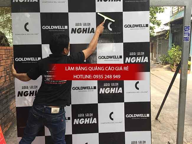 thi cong backdrop gia re 2 - Thi công backdrop bảng hiệu alu dán decal tại tphcm
