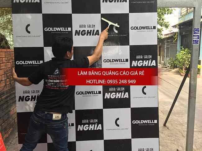 thi cong backdrop gia re 3 - Thi công backdrop bảng hiệu alu dán decal tại tphcm