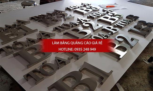 chu noi inox 4 - Làm chữ inox giá rẻ quận Tân Bình
