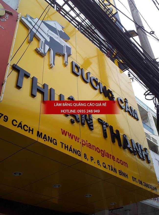lam bang hieu alu chu noi 2 1 - Bảng hiệu alu giá rẻ tại quận 10 TPHCM