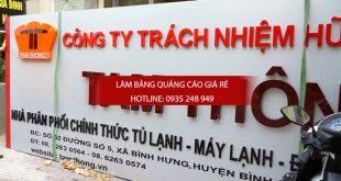 Làm bảng hiệu alu chữ nổi mica giá rẻ tại quận 10 tphcm