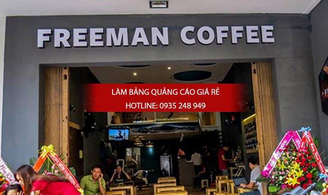 Chữ nổi mica trang trí cho quán cafe freeman