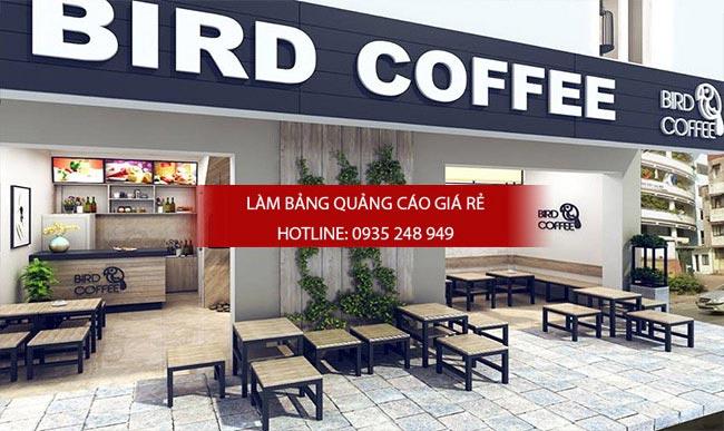 Bảng hiệu quán cafe in bạt hiflex