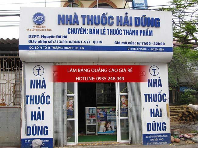 Thi công mặt dựng alu cho bảng hiệu nhà thuốc quận Tân Phú