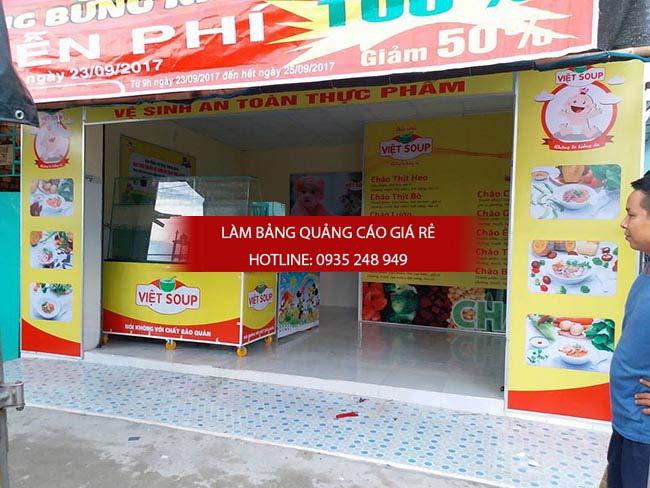 Thi công bảng hiệu in bạt hiflex cho cửa hàng cháo dinh dưỡng quận Tân Phú