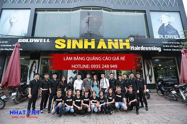 Bien hieu salon toc dep - Làm bảng hiệu quận Bình Tân