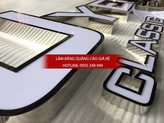 lam bang hieu chu inox 41 - Làm bảng hiệu chữ inox