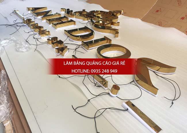 lam bang hieu chu inox 49 - Làm bảng hiệu chữ inox