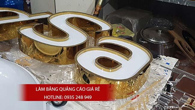 lam bang hieu chu inox 50 - Làm bảng hiệu chữ inox