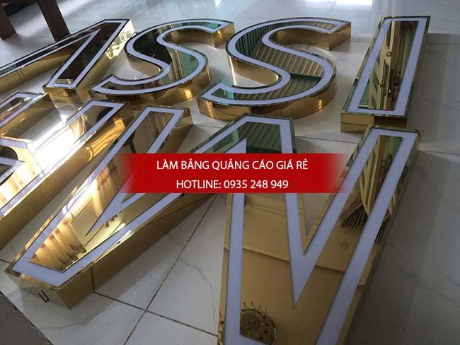 lam bang hieu chu inox 62 - Làm bảng hiệu chữ inox