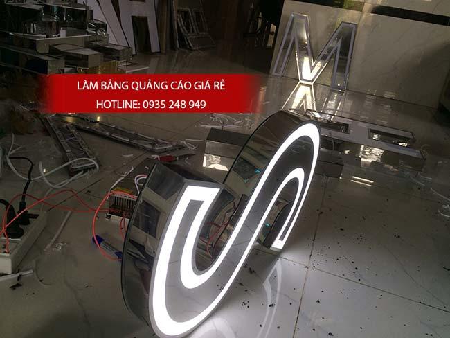 lam bang hieu chu inox 63 - Làm bảng hiệu chữ inox