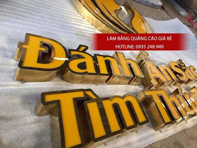 lam bang hieu chu inox 67 - Làm bảng hiệu quảng cáo giá rẻ tại đường Hậu Giang quận 6