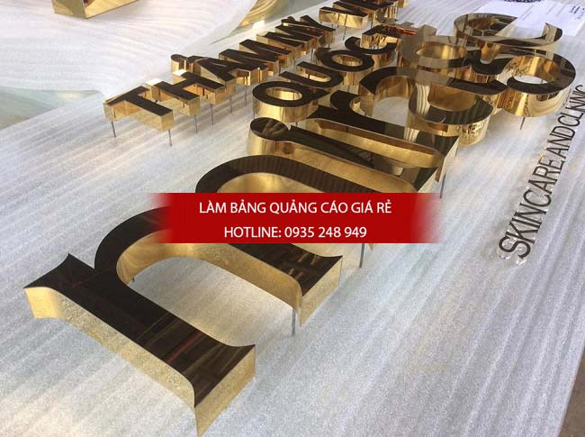 lam bang hieu chu inox 73 - Làm bảng hiệu quảng cáo đường Vành Đai Trong quận Bình Tân