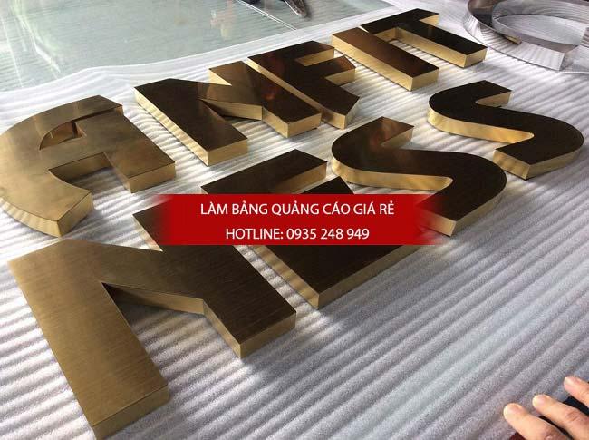 lam bang hieu chu inox 74 - Làm bảng hiệu chữ inox