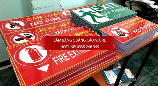 Làm bảng hiệu phòng cháy chữa cháy