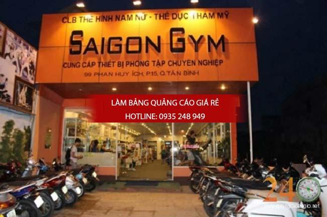 lam bang hieu phong tap gym 11 - Làm bảng hiệu quảng cáo giá rẻ tại đường Hậu Giang quận 6