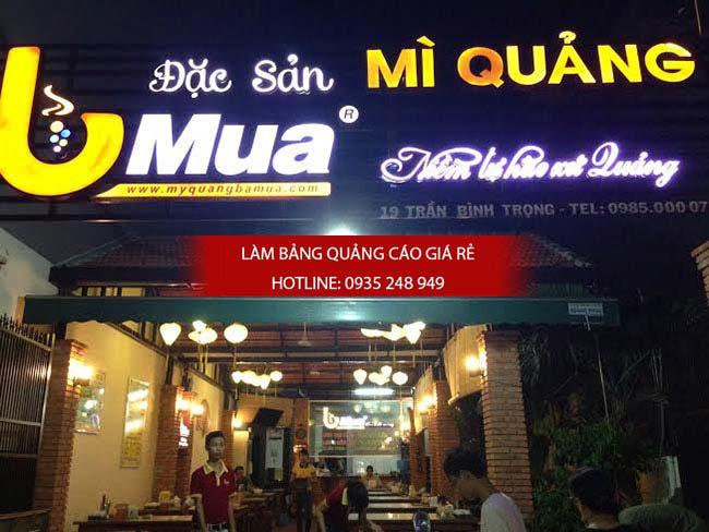lam bang hieu quan 5 4 - Làm bảng hiệu hộp đèn quận Tân Phú