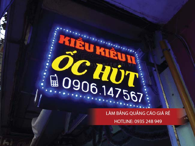 lam bang hieu quan 7 1 - Làm bảng hiệu hộp đèn quận Tân Phú