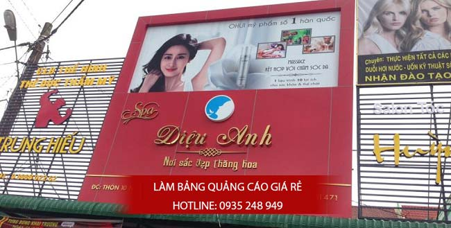 lam bang hieu cham soc da 2 - Làm bảng hiệu quảng cáo đường Bình Trị Đông quận Bình Tân
