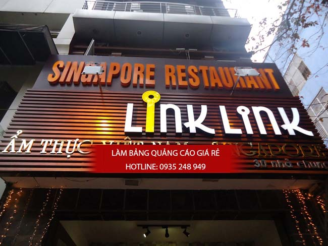 mau bang hieu nha hang dep 1 - Những mẫu bảng hiệu nhà hàng đẹp nhất TPHCM