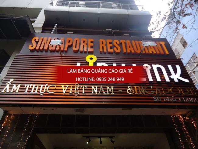mau bang hieu nha hang dep 2 1 - Các mẫu biển hiệu đẹp cho nhà hàng
