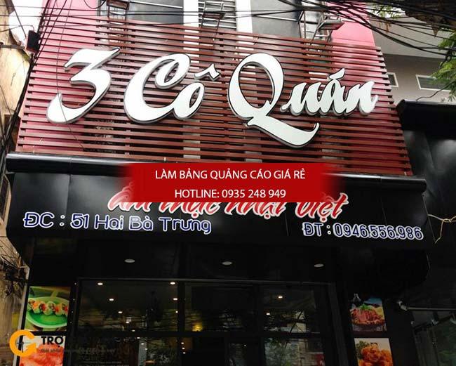 mau bang hieu nha hang dep 6 - Những mẫu bảng hiệu nhà hàng đẹp nhất TPHCM