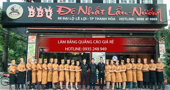 mau bang hieu quan an nha hang dep 2 - Làm bảng hiệu quán ăn nhà hàng đẹp