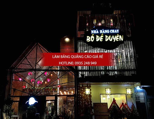 mau bang hieu quan an nha hang dep 34 - Bảng hiệu quán ăn nhà hàng đẹp tại TPHCM
