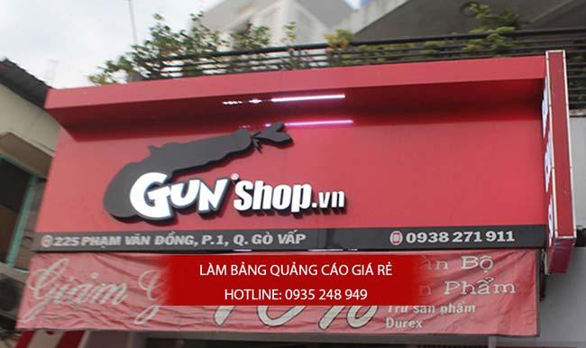 lam bang hieu quan 1 10 - Thi công biển hiệu quảng cáo giá rẻ tại quận 1