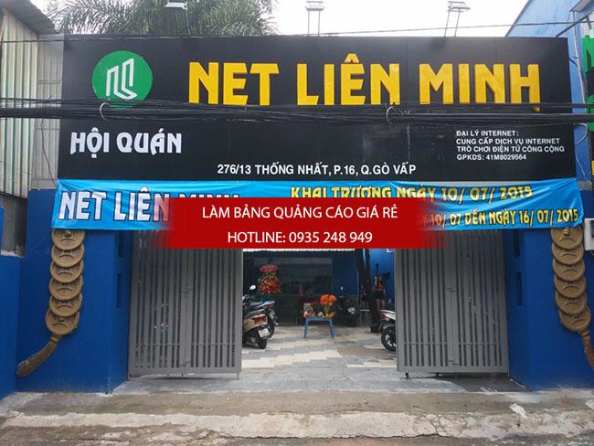 thi cong bang hieu alu 8 - Thi công quảng cáo bảng hiệu alu