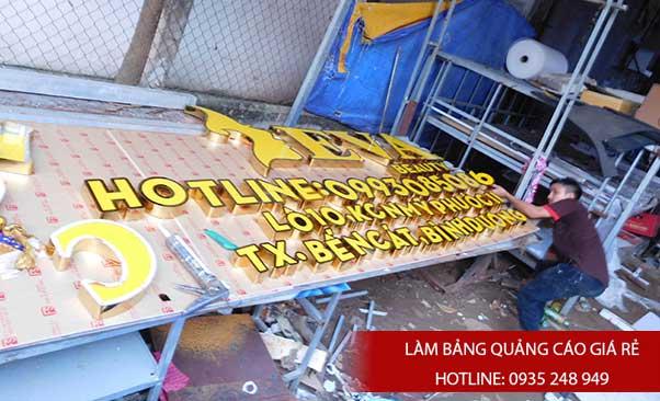 lam chu noi inox 7 - # Làm chữ nổi inox giá rẻ quận Bình Tân và quận Tân Phú