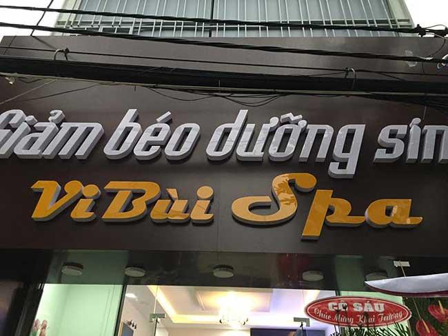 thi cong lam bang hieu quang cao 229 - Làm bảng hiệu quảng cáo giá rẻ tại quận tân phú