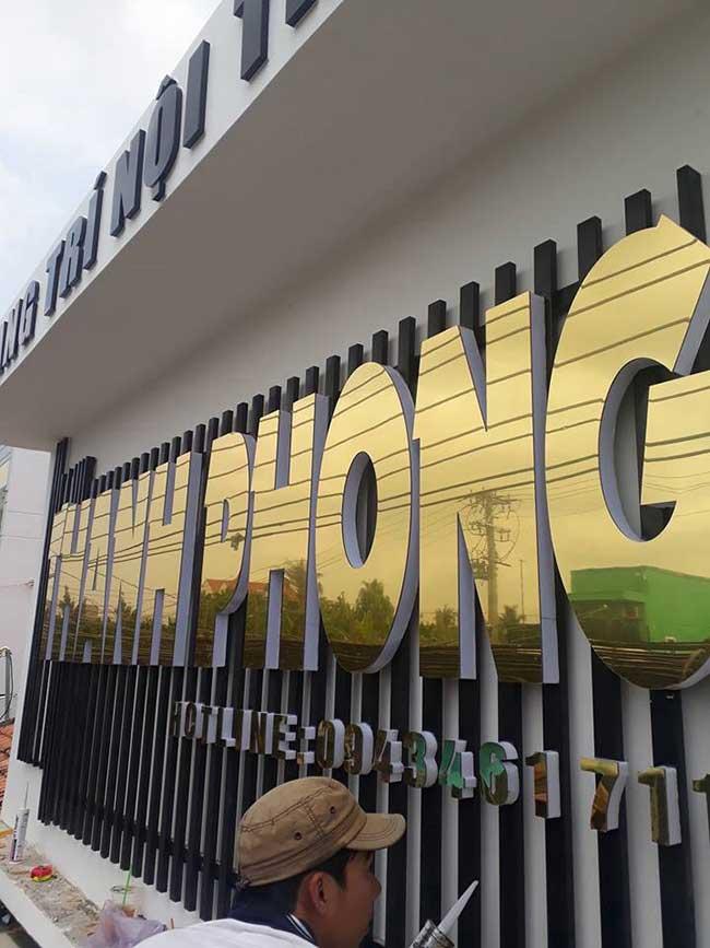 thi cong lam bang hieu quang cao 389 - Làm bảng quảng cáo tại đường Tân Sơn Nhì quận Tân Phú