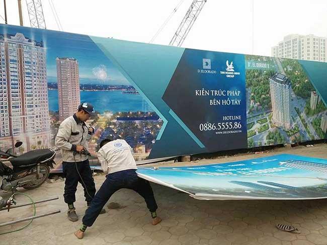 thi cong lam bang hieu quang cao 410 - Làm bảng quảng cáo tại đường Trương Phước Phan quận Bình Tân