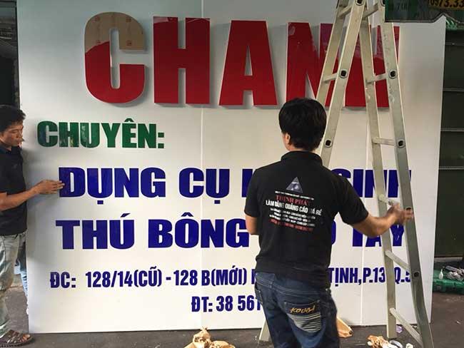 thi cong lam bang hieu quang cao 420 - Làm bảng quảng cáo tại đường Lê Văn Quới, quận Bình Tân