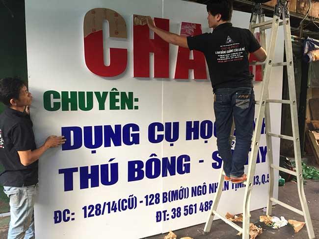 thi cong lam bang hieu quang cao 422 - Làm bảng quảng cáo tại đường Tân Sơn Nhì quận Tân Phú