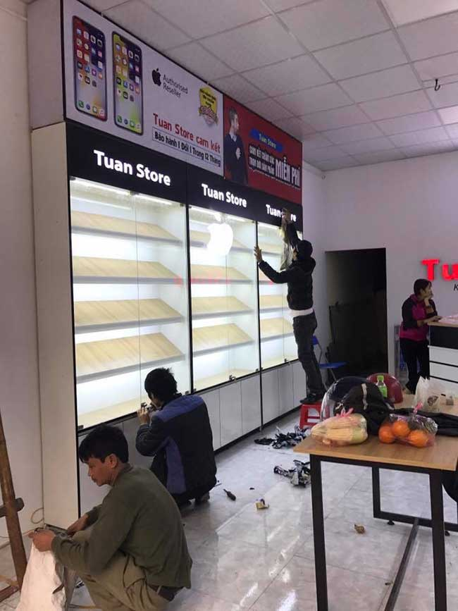 thi cong lam bang hieu quang cao 478 - Làm bảng hiệu quảng cáo giá rẻ tại quận tân phú