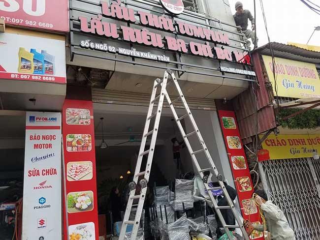 thi cong lam bang hieu quang cao 537 - Làm bảng quảng cáo tại đường Trương Phước Phan quận Bình Tân
